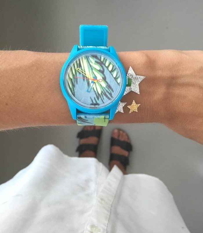 orologio stampa tropicale