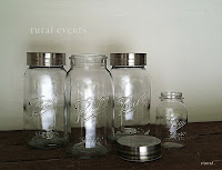 mason jars decor ruralevents.blogspot.com