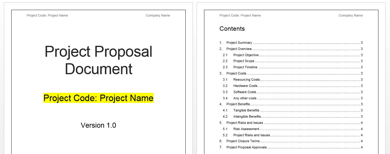 Project proposal template free project management templates for Software project proposal template word
