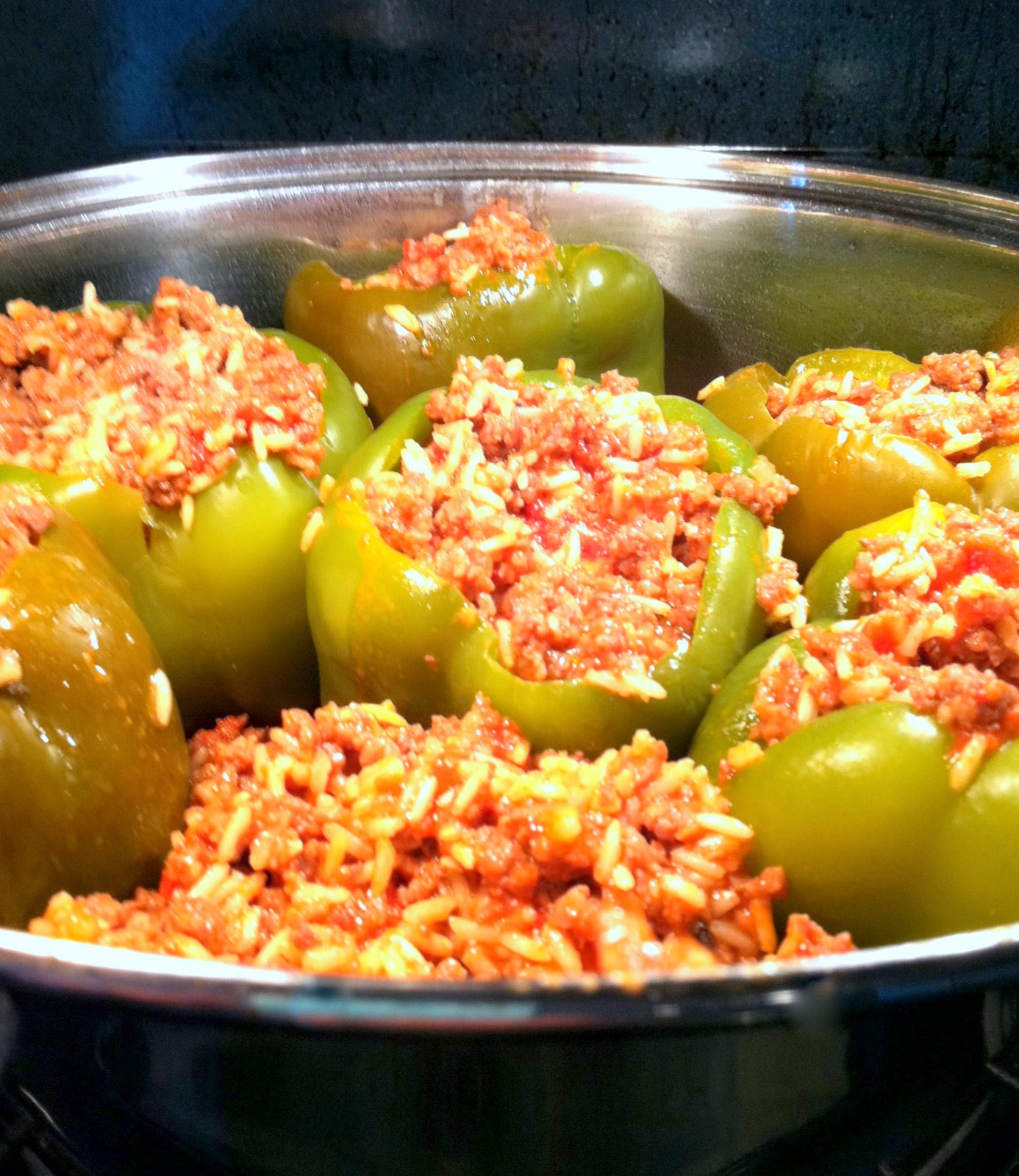 MISTY'S MORNINGS: Locally Grown {stuffed green peppers recipe}