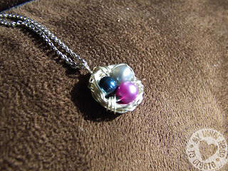 Handmade Mother Bird Nest Necklace