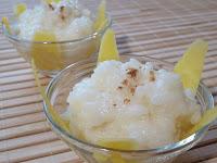 Orez cu lapte in fasii de mango