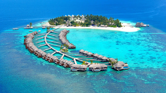 Tropical Island Maldives HD Wallpaper