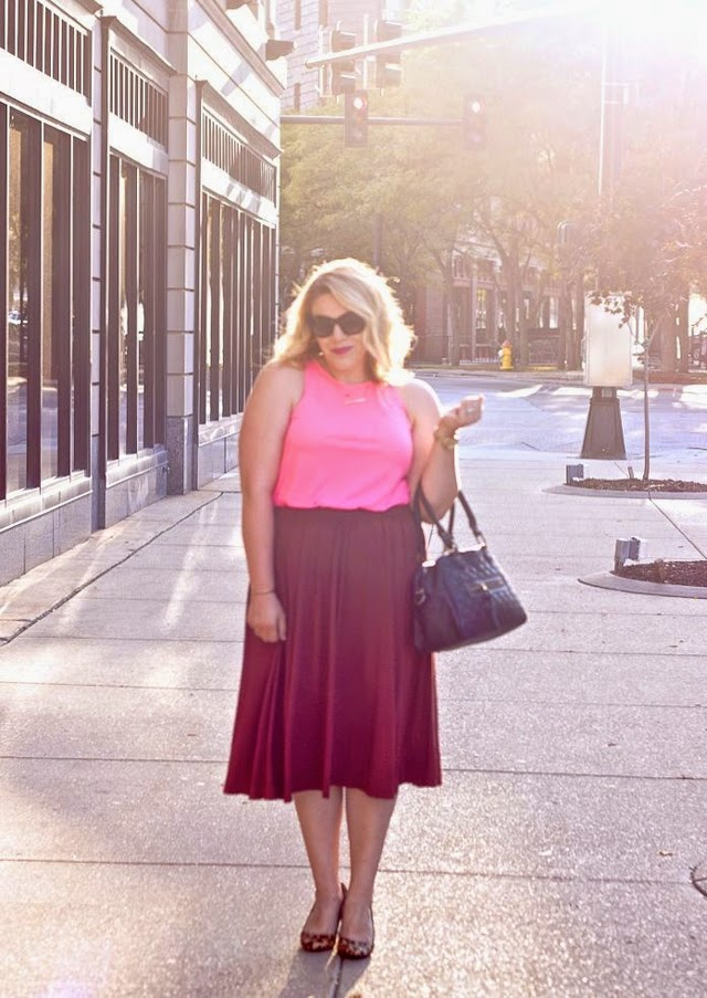 Mixing neon with fall peices