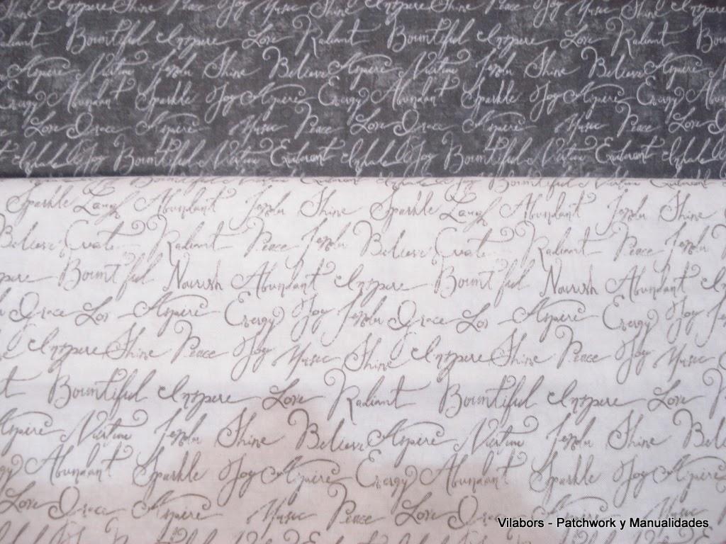 Primavera 2014, Telas Patchwork. Especial Sant Jordi, telas con letras. Vilabors, Vilafranca del Penedès