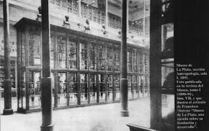 Museo de La Plata. Esqueletos de caciques y su gente