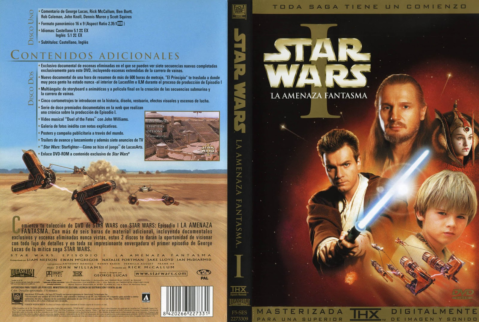 Star Wars I - La Amenaza Fantasma DVD