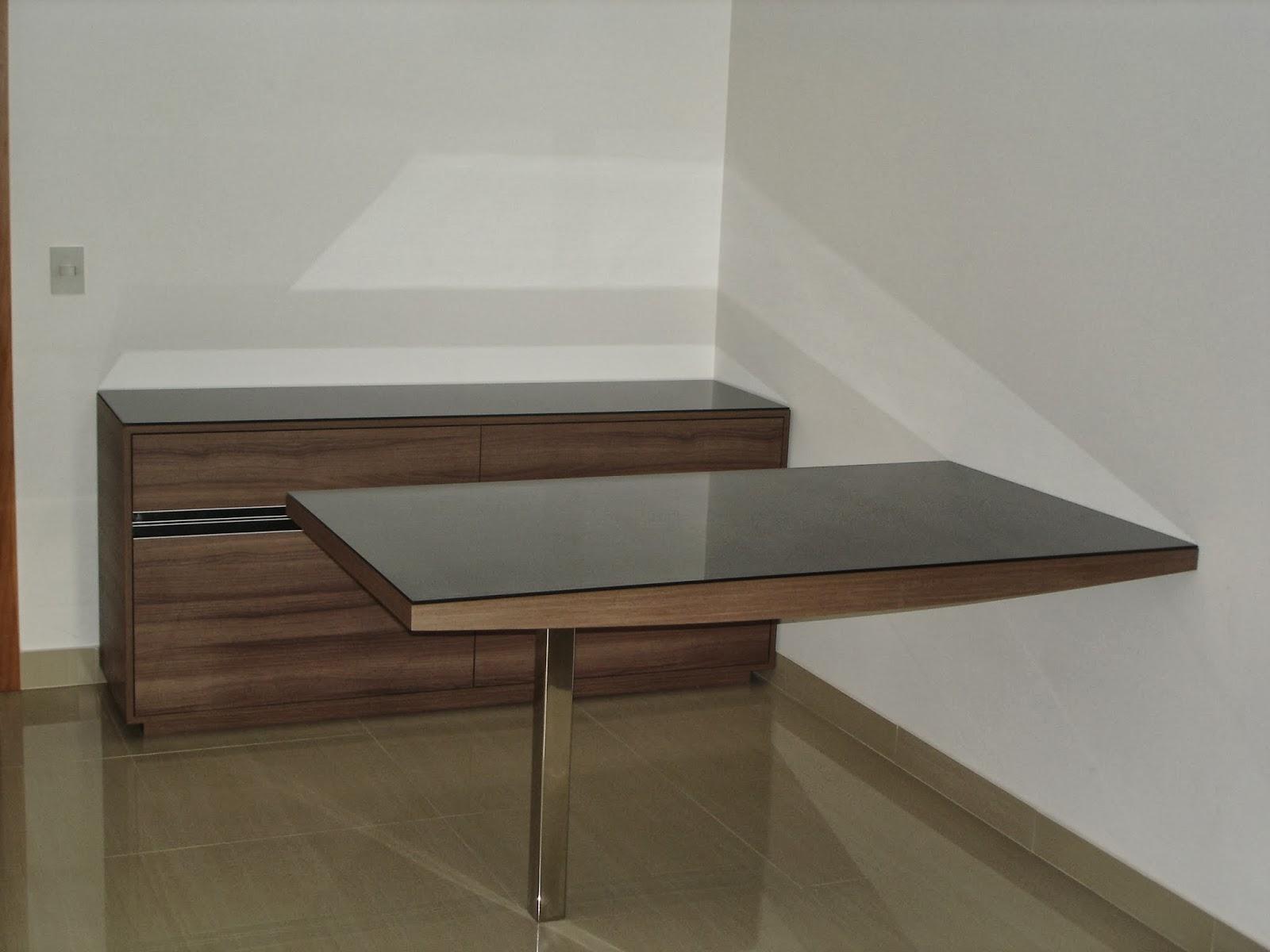 Mesa Fixa Parede ~ Belenetto Marcenaria Personalizada Sala de Jantar e Home Theater Neia Jardim da Penha