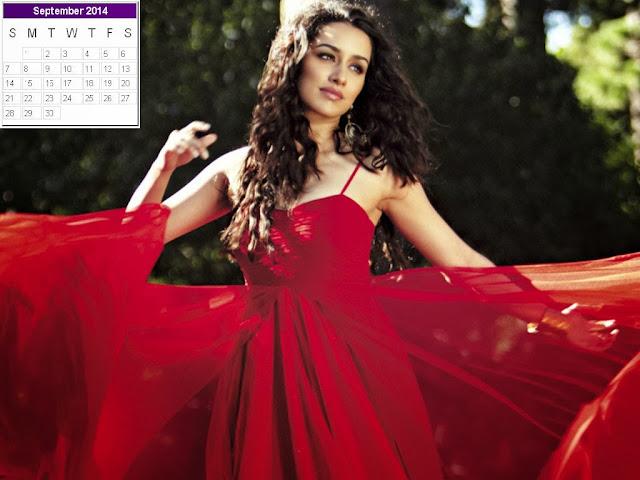 Shraddha Kapoor Calendar 2014