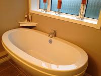huge soaker tub