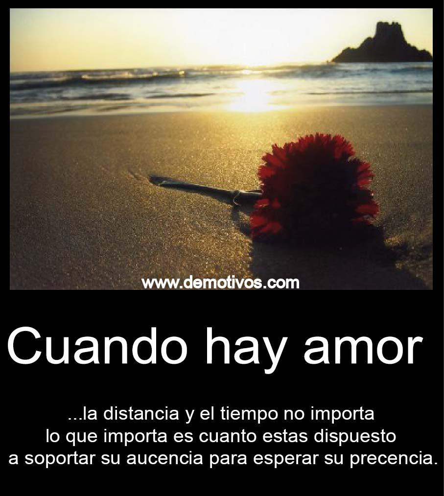 Cuando hay amor no importa la distancia ni el tiempo