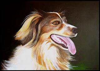 Original pet portrait acrylic painting
