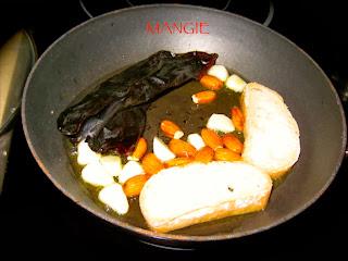 Ingredientes salsa de almendras