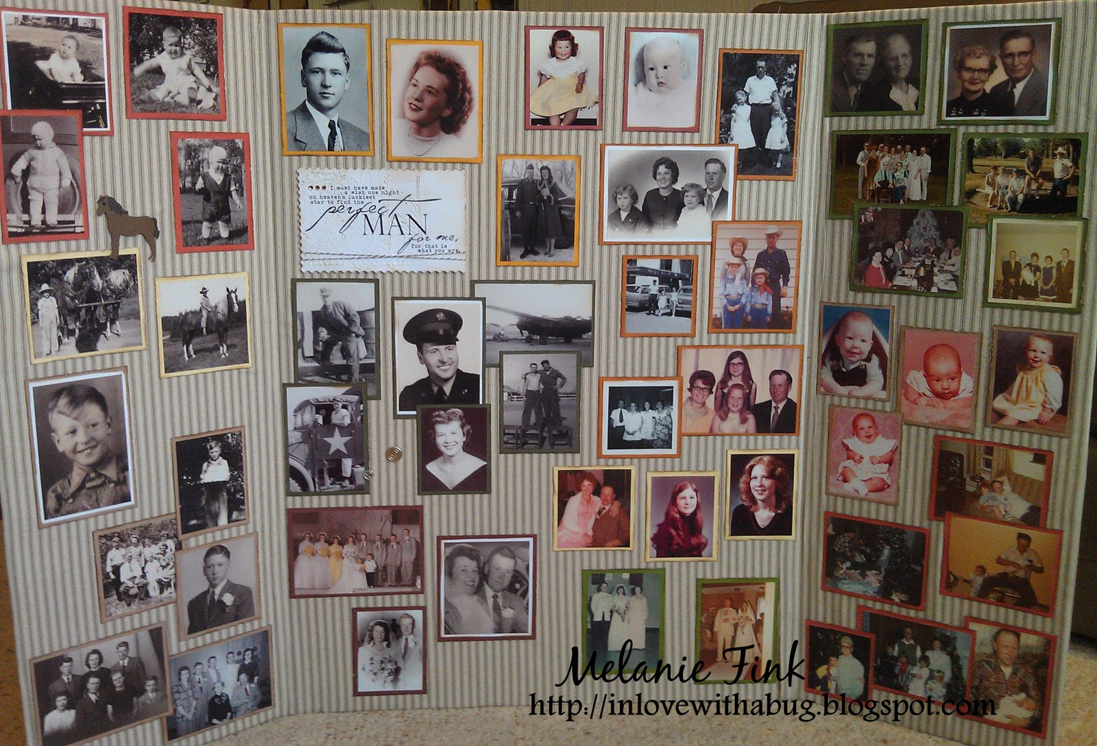 The paper retreat i love you grandpa and happy veteran 39 s day for Family display board ideas