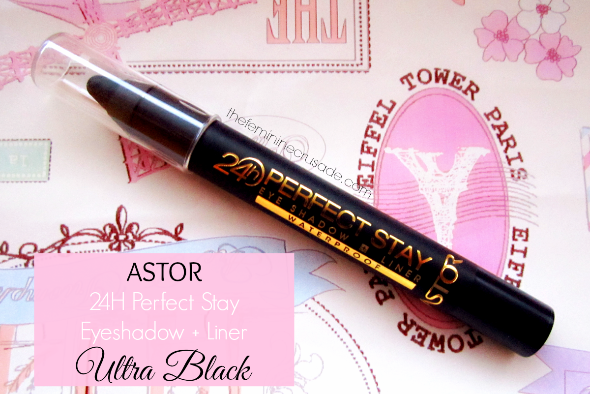 Astor Perfect Stay 24H Eyeshadow + Liner in 'Ultra Black'