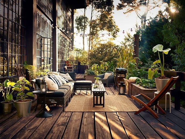 Louise deco balkonginspiration - Ikea pavimento esterno ...
