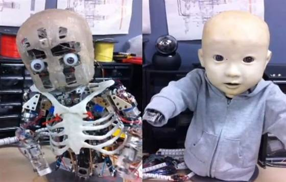 Interesting Amp Funny Creepy Robot Baby With Torso And