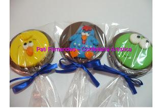 doce pirulito chocolate galinha pintadinha