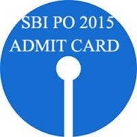 Admit Card for SBI PO Prelims 2015