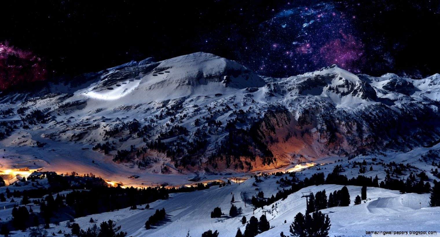 Night Sky Snow HD desktop wallpaper  High Definition  Fullscreen