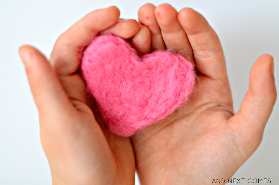 Scented felt hearts for kids from And Next Comes L