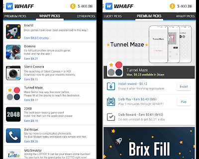 Download WHAFF Rewards: Aplikasi Android Penghasil Dollar Gratis