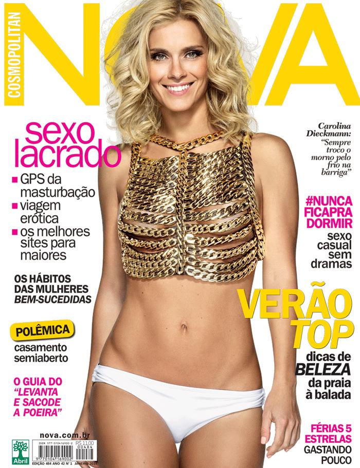 Magazine Photoshoot : Carolina Dieckamnn Photoshoot For Nova Magazine Brasil Janeiro 2014 Issue