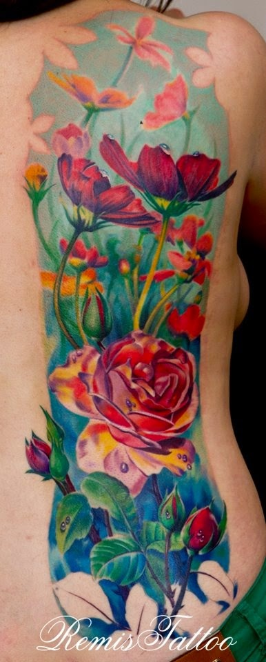 Rosa Tattoo Feminina - Remis Tattoo