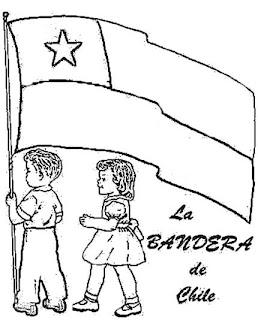 Ni  Os Con Bandera Chile Para Colorear