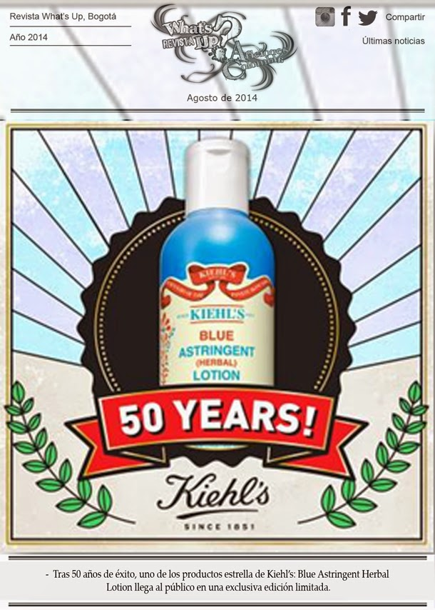 Blue-Astringent-Herbal-Lotion-clásico-KIEHL´S-Cumple-50-años-mercado