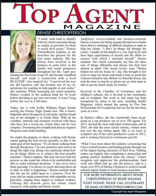 Denise Christofferson | Top Agent Magazine