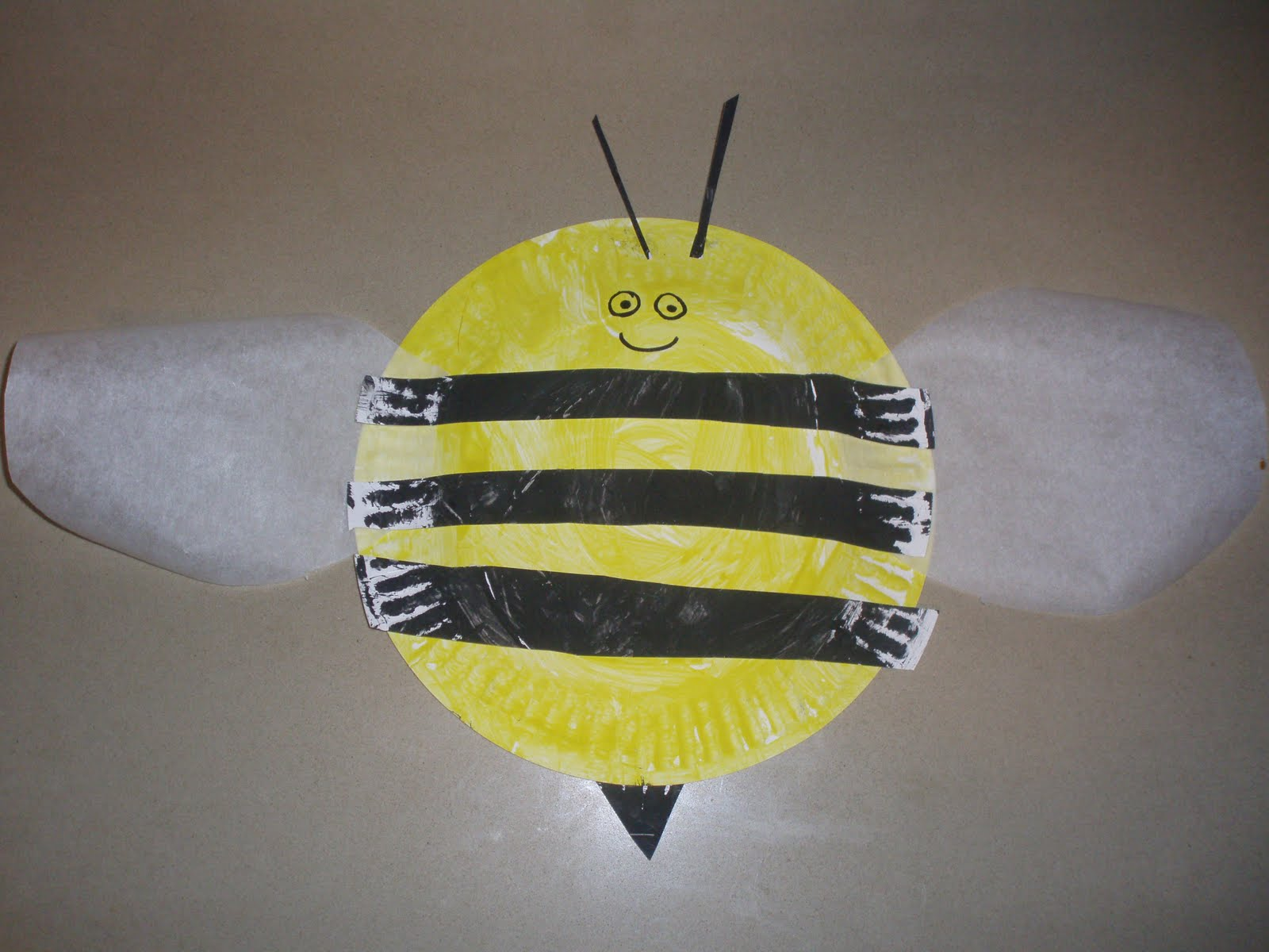 Craft bumble bee -  Pin Paper Plate Bee Craft For Kids On Pinterest