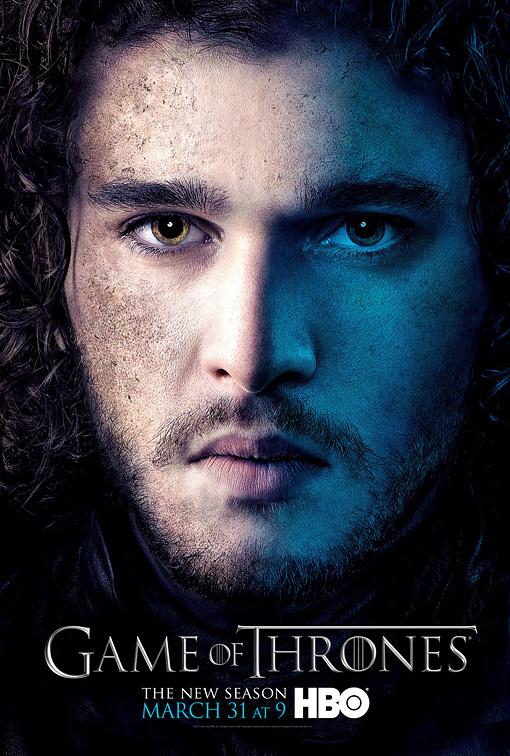 Jon nieve poster 3T - Juego de Tronos en los siete reinos