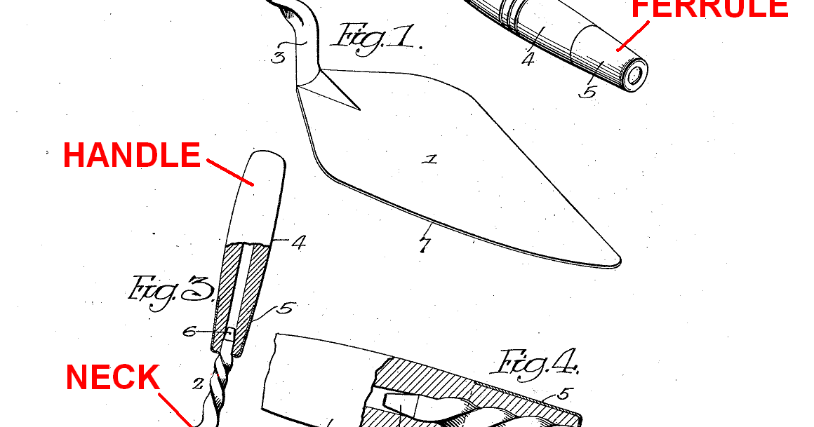 Masonry Trowel And Parts : Trowel and masonry tool collector resource parts of a