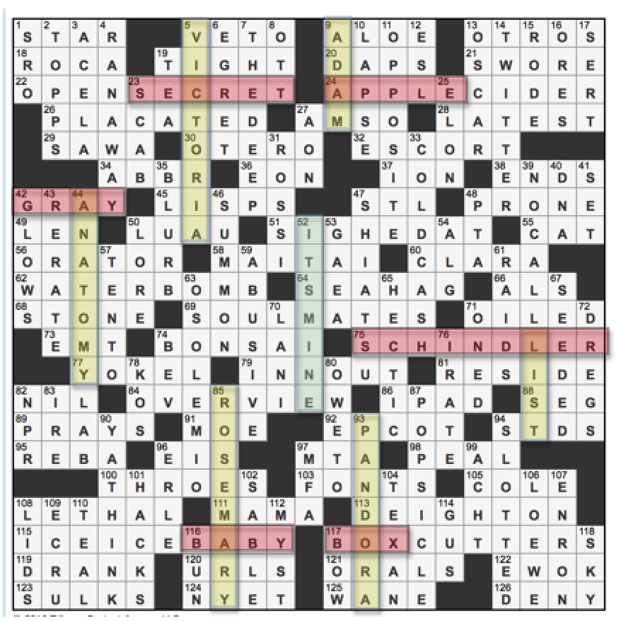 Dating from crossword clue