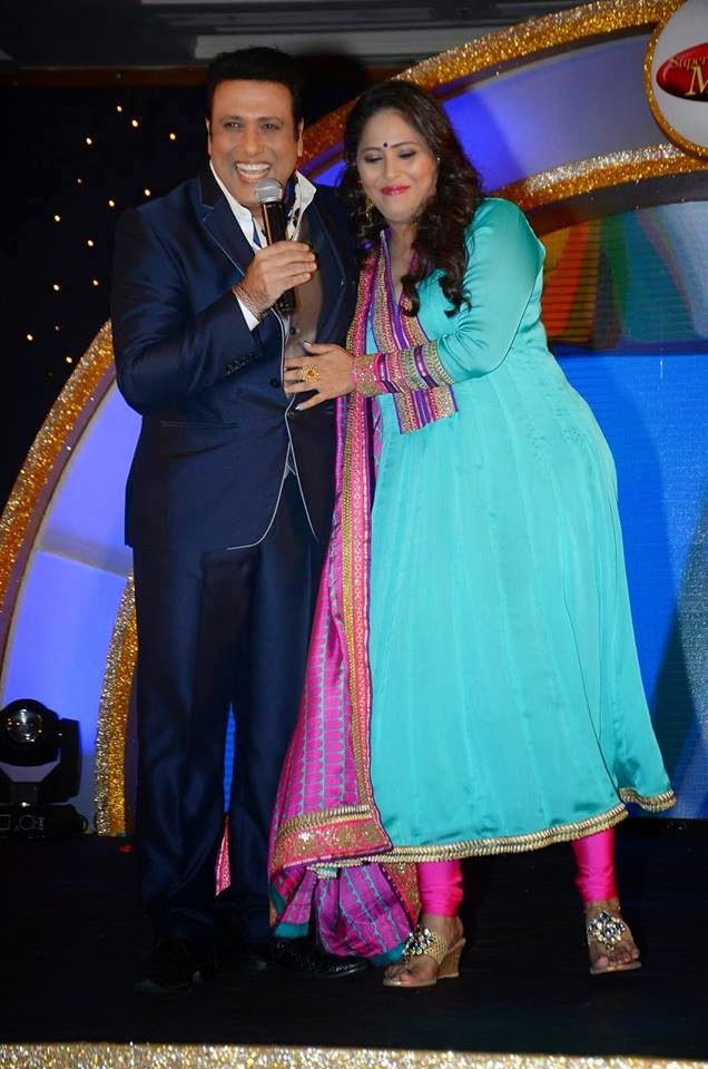 Govinda and Geeta Kapoor at Dance India Dance Super Moms Launch