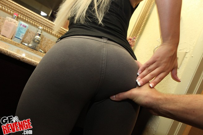 Apologise, Fucked thru yoga pants really