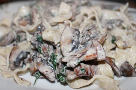 Mias Lactose Free KitchenHomemade pasta with mushrooms and