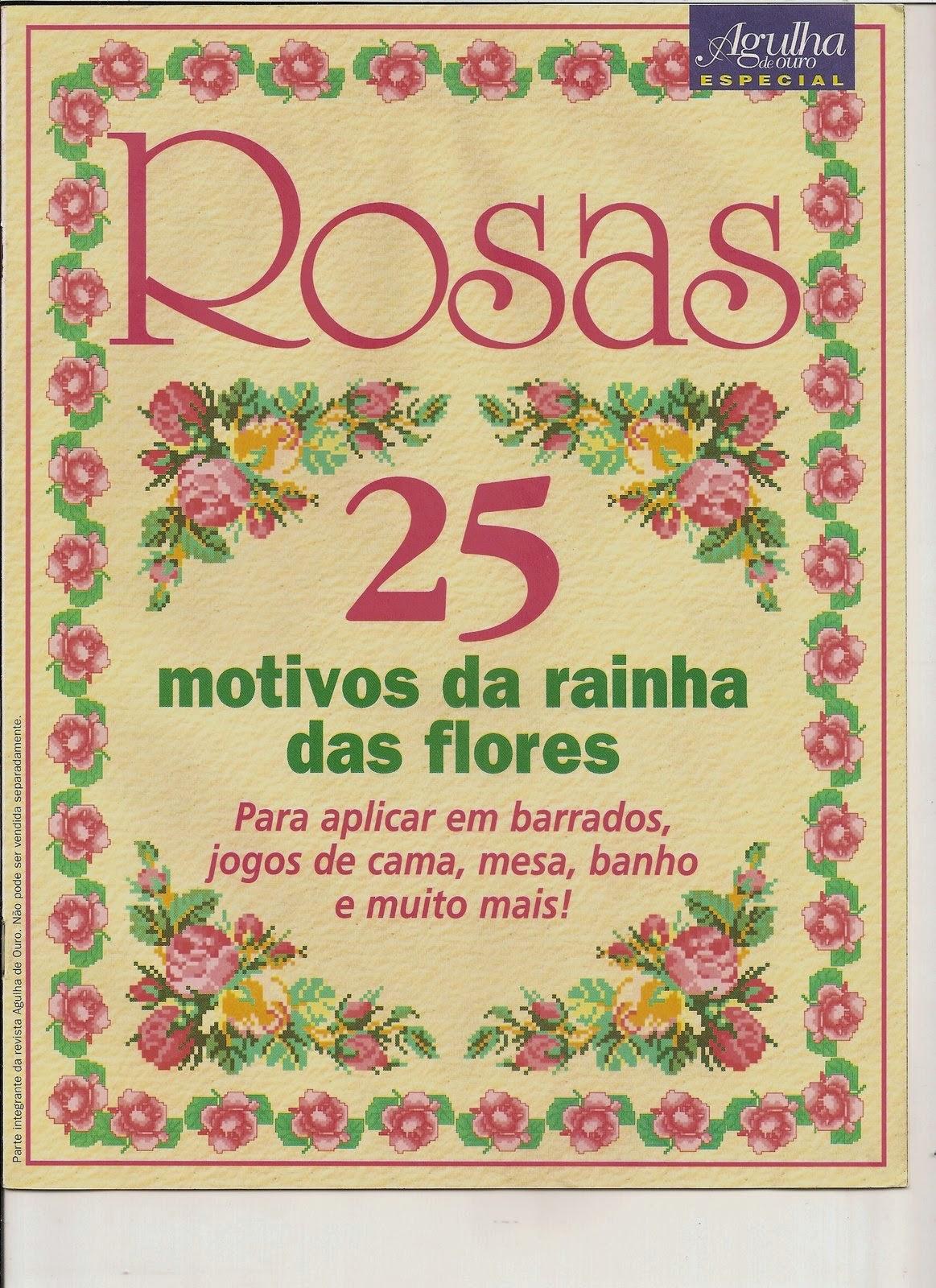 Graficos de rosas en punto de cruz - Revistas de manualidades Gratis