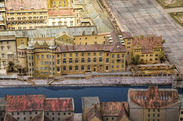 Baustelle Berliner Schloss, Stadtschloss, Schlossplatz im historischen Zentrum Berlins als Modell, Humboldtbox, 10178 Berlin, 10.12.2013