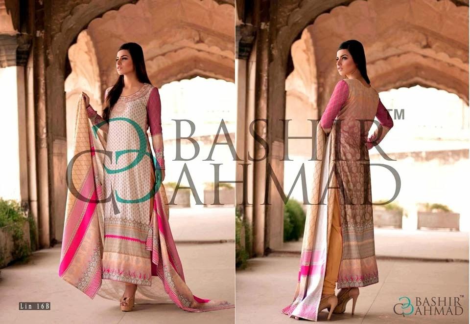 BashirAhmedLinen2013 14 wwwfashionhuntworldblogspotcom 012 - Bashir Ahmed Linen Dresses 2013 / 2014