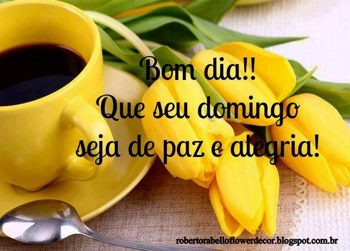 Tag Mensagens De Bom Dia Com Flores Amarelas