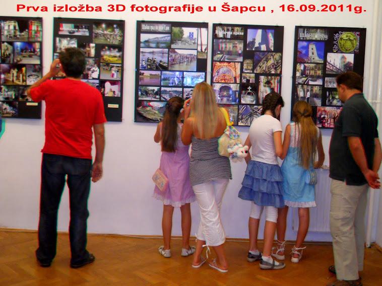 Izložba 3D fotografije u Šapcu od 16-26 .09.2011g.