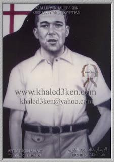 STARS ENGLAND ARTHUR ROWLEY Portrait Drawing Soccer Football Khaled3Ken Gallery
