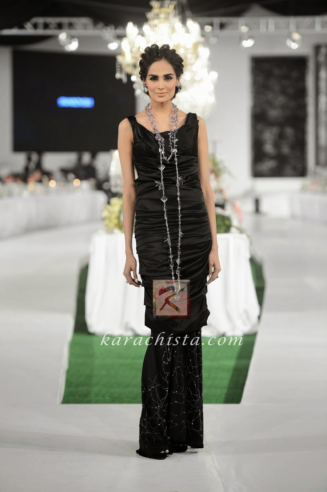 Mehreen Syed in Libas Swarovski crystals ensemble