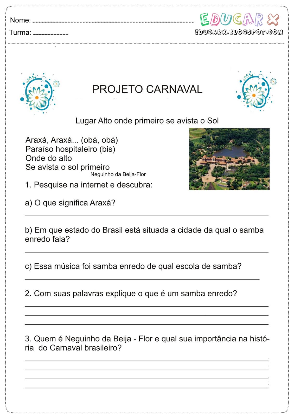 Texto sobre o carnaval