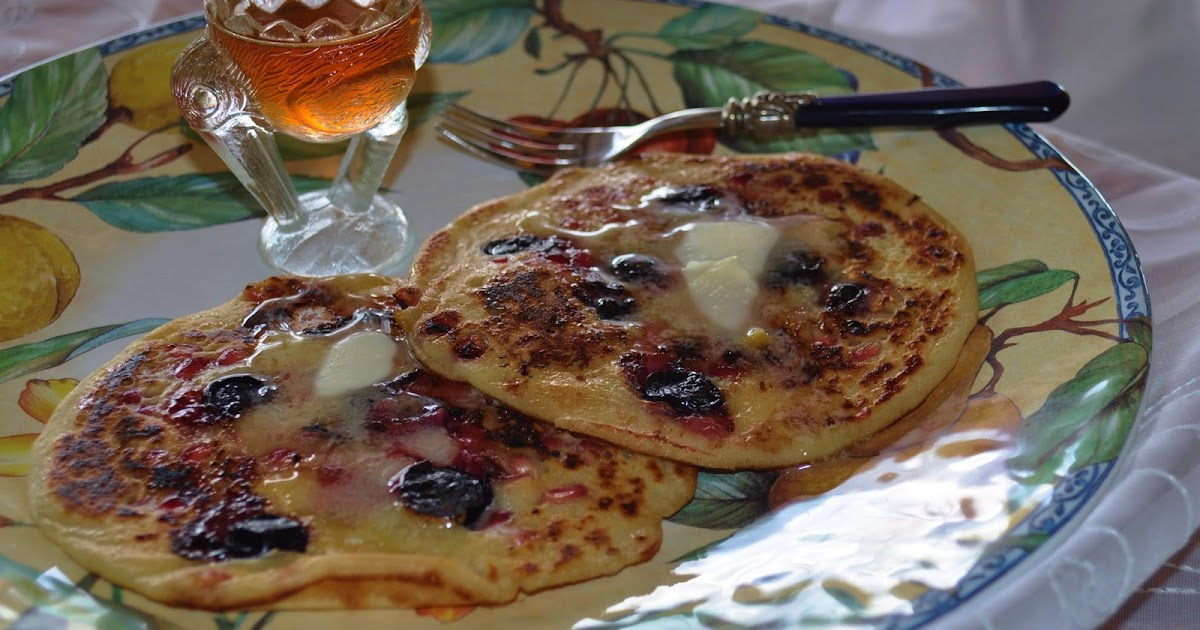 My Hawaiian Home: Pomegranate & Blueberry Sourdough Pancakes