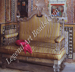 A crystal sofa in the Shecsh Mahal ('Palace of Mirrors') part of the Mon Bagh Palace of Patiala