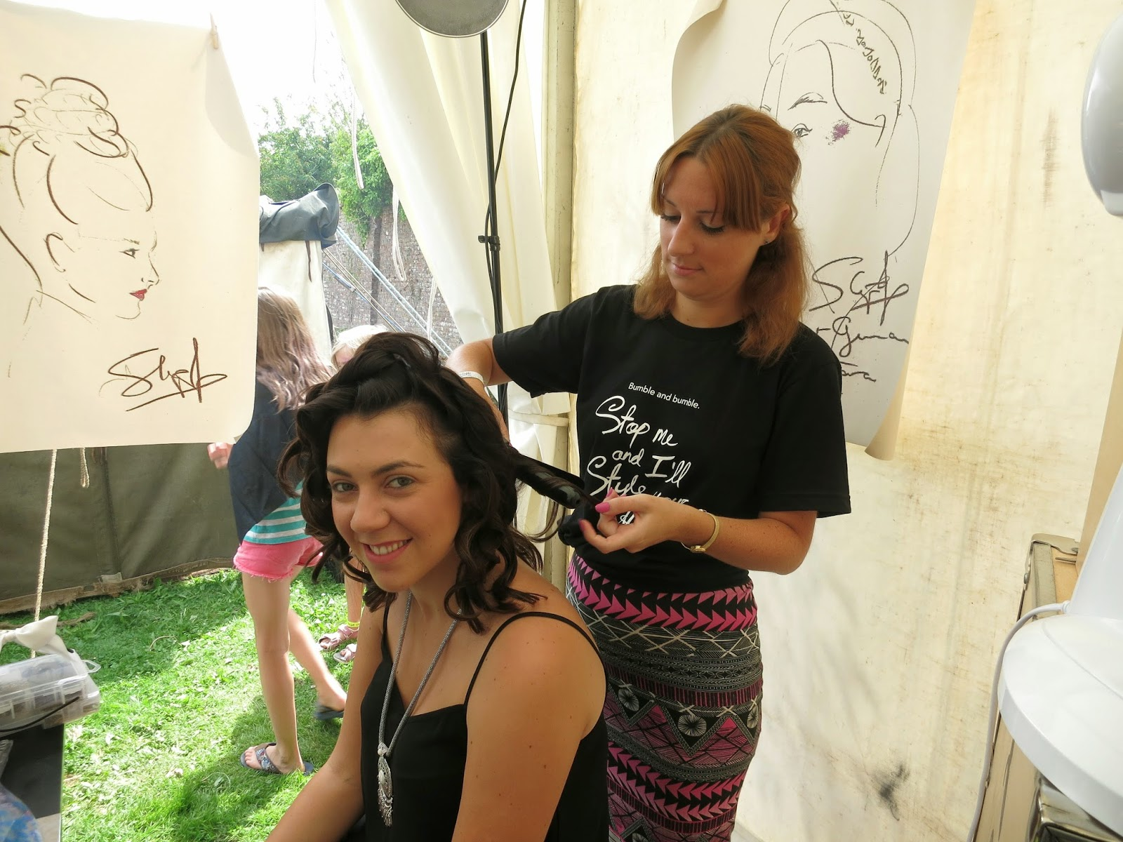 styling by bumble and bumble at port eliot festival 2014