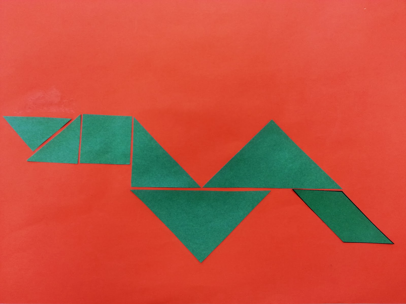 snake crafts for kids tangrams for kids year of the snake - Chinese New Year 1989